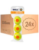 Теннисные мячи Wilson Roland Garros Orange 72 (24x3)